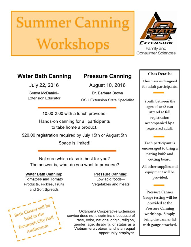 2016 canning workshop flyer